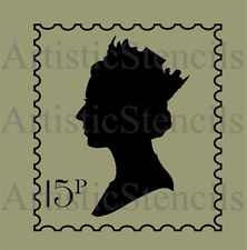 STENCIL Queen Elizabeth Postage Stamp  10x9 FREE US SHIPPING