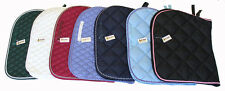 Lot of Three All Purpose Quilted Cotton English Saddle Pads Mixed Color