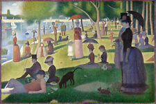 La Grande Jatte Poster!  Sunday Afternoon Park Peaceful Lush Green Seurat New!