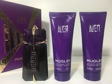 ALIEN BY THIERRY MUGLER PERFUME FOR WOMEN SPRAY 2.0 oz + 3.5 B/L + 3.5 S/M NIB
