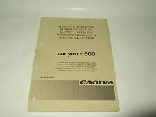 MANUALE D'OFFICINA  CAGIVA CANYON 600
