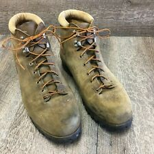 Vintage Vasque Men's Hiking Trail Mountaineering Boots 14 M Cowhide Suede Italy