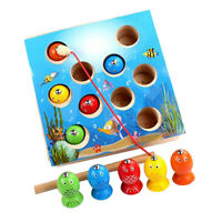 Wooden Fishing Game Magnetic Montessori Toys for Toddlers Preschool Learning