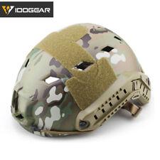 Casco rápido tipo de BJ idogear Tacitcal Militar Ejército Airsoft Headwear con lateral riel