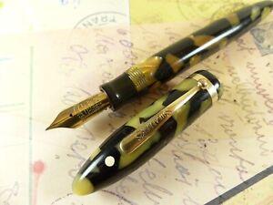 Pearl and Black Sheaffer Balance Oversize Fountain Pen - restored