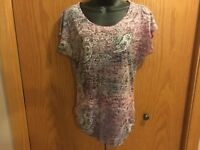 Women's Maunces Purple Design Shirt Size S