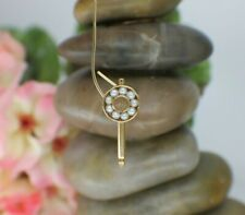 Solid 14K Yellow Gold Tuxedo Button with Pearl Detail