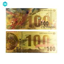 Business Souvenir Gifts Russian 100 Colorful Gold Banknote 999 Gold Foil Bill