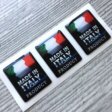 Made in Italy Flag domed sticker decal emblem BMW, VW, Porsche, Mercedes