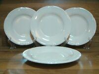 """SET OF 4 - PFALTZGRAFF - WHITE FILIGREE 8 1/4"""" SALAD / DESSERT / SIDE PLATES"""