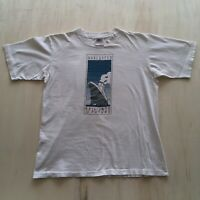 VTG 90s T-Shirt Single Stitch Mens Large Oneita Boat Sail Into The Future White