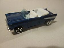 1979 Kidco Tough Wheels 1:60 Navy Blue '57 Chevrolet Chevy Car #151-4 HK (Mint)