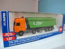 Mercedes Benz Arocs fliegl dump truck trailer  HO 1/87 siku 1796 free shipping
