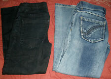 TWO PAIR JEANS (1 blue/1 black) (size 8) NICE!!