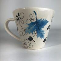 Starbucks Mug Blue Leaf  2007 Coffee Cup