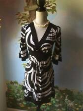 My Michelle Black & White  Women's 3/4 Sleeve Dress Size Small