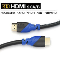 Premium HDMI 2.0 Cable (4K @60Hz 2160P ) Male to Male PVC Jacket for Smart TV