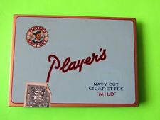 """PLAYER'S NAVY CUT CIGARETTES """" MILD"""" TIN CASE, W/ nice stamp attached"""