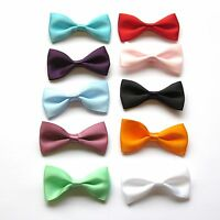 50mm x 25mm Satin Ribbon Bows, Choice of 10 Colours, Packs of 5, 10 or 25