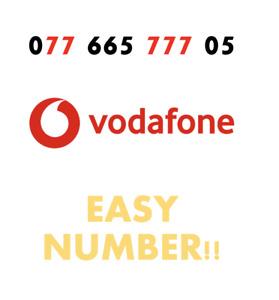 Vodafone Sim Card Easy Mobile Number GOLD VIP Fancy '077 665 777 05' EASY NUMBER