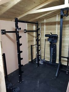 Compact Heavy Duty Wall Mounted Squat Rack/ Bench Press Rack