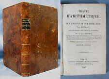 Traité d'Arithmétique à l'Usage de la Marine et de l'Artillerie / BÉZOUT / 1826