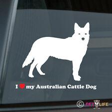 I Love My Australian Cattle Dog Sticker Die Cut Vinyl - heeler