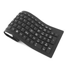 Waterproof Silicone Keyboard Foldable Flexible USB Dustproof DirtProof Full Size