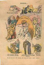Fête des Mères Nourrisson Enfant Soldat Poilu Sainte Vierge Catholique WWII 1939
