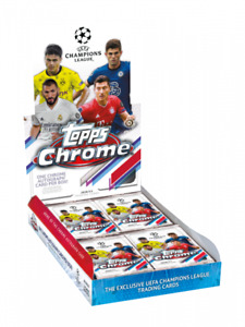 Topps UEFA Champions League Chrome 2020/21 Hobby Box - Factory Sealed