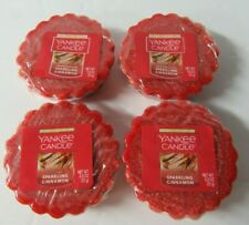 4 Yankee Candle Sparkling Cinnamon Wax Tarts - NEW & SEALED
