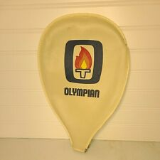New listing Vintage Olympian Zipper Case with torch emblem for Racquetball Racquet CASE ONLY