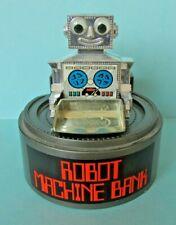 VINTAGE RETRO HONG KONG EVERLAST ROBOT MACHINE BANK WIND UP CLOCKWORK MONEY BOX