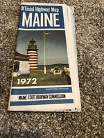 1972 Maine State-issued Vintage Road Map