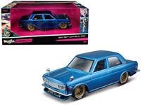 1/24 Maisto 1971 Datsun 510 TOKYO MOD Diecast Model Car Blue 32527 BL