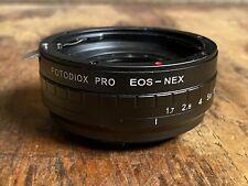 Fotodiox Pro EOS-NEX Canon EOS To Sony E Adapter W/ Iris Aperture