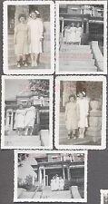 Lot of 5 Vintage 1949 Photos Nurses & Plump Patient Simpson Nursing Home 743318
