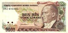 05 Turkey / Türkei P197 5000 Lirasi 1985 C82 watermark Typ 9 RR
