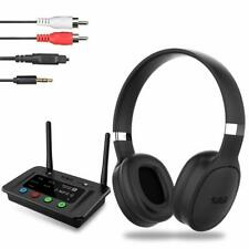 Wireless Bluetooth 5.0 Headphone with Long Range Bluetooth Transmitter Adapter f