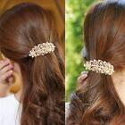 Fashion Crystal Rhinestone Flower Hair Barrette Clip Hairpin Women Jewelry