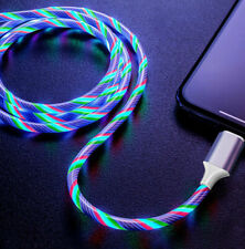 LED Flowing Lightup Lightning/Micro USB/Type C/Charging Cable for Android iPhone
