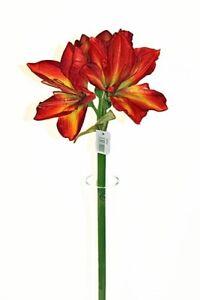 Buy 2 get 1 free Large Red Amaryllis flower artificial flower stem