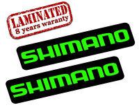 2 x AUFKLEBER SHIMANO STICKERS AUTO MOTO TUNING FAHRRAD MOUNTAINBIKE RADSPORT