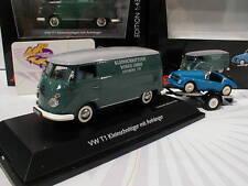Schuco 03741-Volkswagen VW t1c con coche remolque y kleinschnittger 1:43 nuevo
