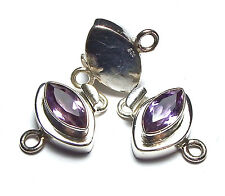 AMETHYST 925 Sterling Silver 21mm Box Clasp /A7
