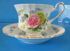 GROSVENOR CABINET CUP & SAUCER PERFECT CONDITION NICE FLOWERS DEEP DISH SAUCER