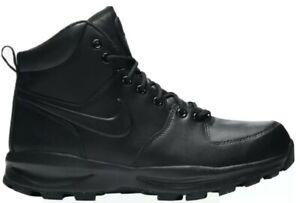 Nike Manoa Black Leather Work Sneaker Boots Men's Casual Winterized Triple