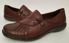 Women's Rockport Cobb Hill Paulette Slip On Shoes Brown Leather Size 7.5 Eur 38