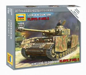 Zvezda Model Kit 6240 German medium tank PZ.KPFW.IV AUSF.H, scale 1/100