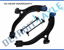 New 4pc Set: Lower Control Arms + Ball Joints + Sway Bar Links for Dodge Caravan